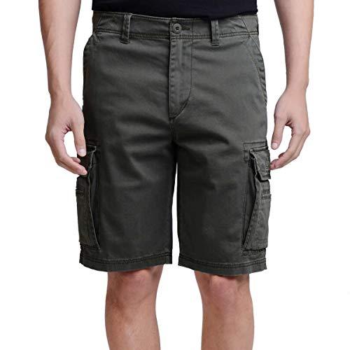 UNIONBAY Montego Mens Cargo Shorts for Comfort Stretch (38, Flint)