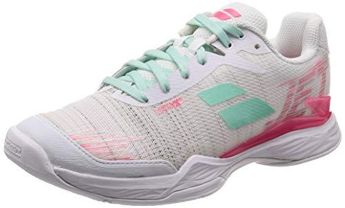 BABOLAT Jet Mach II AC Women, Zapatillas de Tenis Mujer, White/Pink, 38 EU