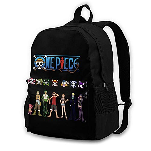 One Piece Anime Backpack for Kids, 3D Graphic Schoolbag for Boys Girls, Funny Gift for Children.