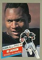 Bo Jackson Football Card (Los Angeles Raiders) 1991 Fleer All Pro #10