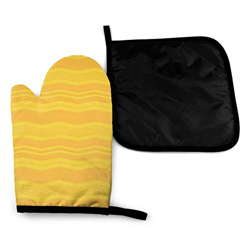 YudoHong Mitts Bright Seamless Striped Background Colorful Heat Resistant Oven Gloves Silicone Oven Glove Funny Oven Mitts,Perfect for Baking BBQ Cooking Grilling