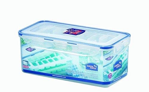 LOCK & LOCK Eiswürfelform mit Eiswürfelbehälter & Deckel im 4-teiligen Set - Premium Eiswürfelbereiter bpa frei - Gefrierform für Eiswürfel - 3,4 l