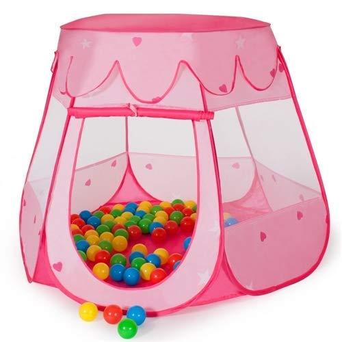 Melko Kinderzelt Mädchen Bällebad mit Bälle Spielzelt Babyzelt Prinzessin Tent mit Tasche