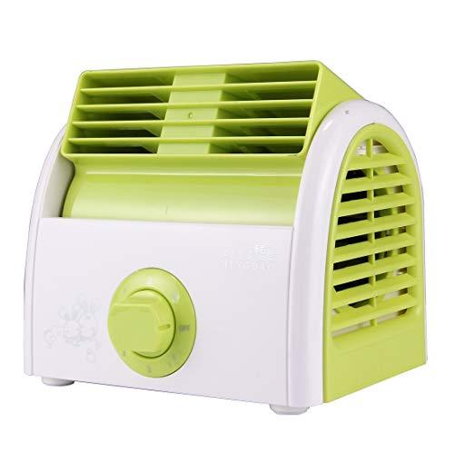 Luoshan 30W Turbine No Blade Mini Ventilador silencioso de Escritorio for Dormitorio/Dormitorio/Sala de Estar/Oficina, Modo de Velocidad de 3 Tipos, CA 220V (Rosa) (Color : Green)