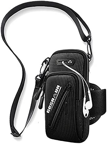 Sports Waterproof Arm Bag,Cellphone Dry Bag with Armband and Audio Jack,Arm Case Cell Phone Armband Case for 6.5 - 7.2-inch phone.