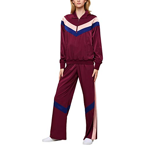 Juicy Couture Black Label Women's Satin Colorblock Track Pants Purple Size S