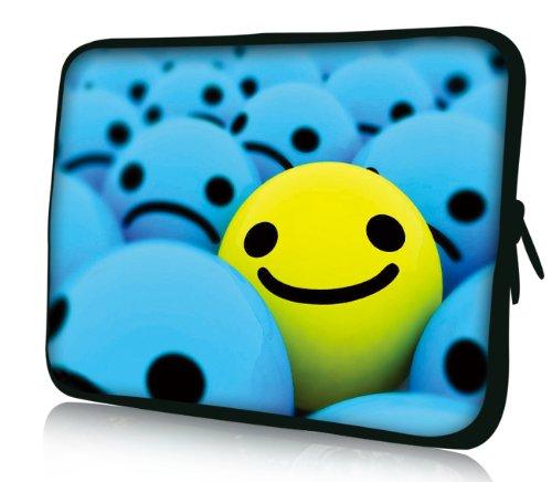 Luxburg® Design Laptoptasche Notebooktasche Sleeve für 10,2 Zoll (auch in 10,2 Zoll | 12,1 Zoll | 13,3 Zoll | 14,2 Zoll | 15,6 Zoll | 17,3 Zoll) , Motiv: Smiley Highlight