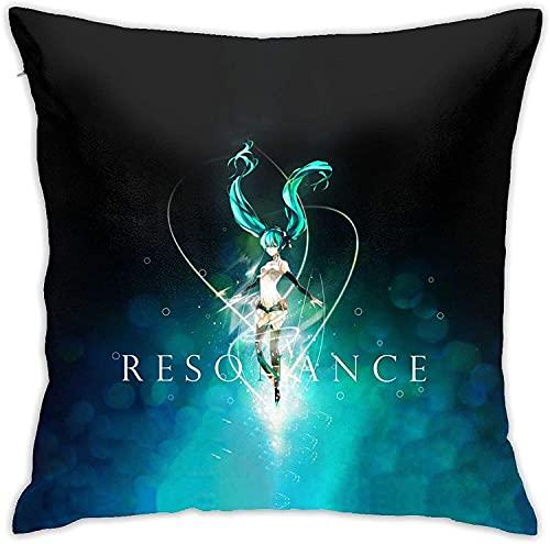 Famosa japonesa Virtual Femenina Singer Ha-Tsune & M-Iku Square Design Decorativo Throw Pillow Covers-B2