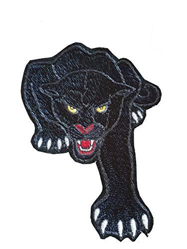Bügelbild schwarzer Panther, Applikation zur Einschulung, Schultüte, Shirt, Flicken