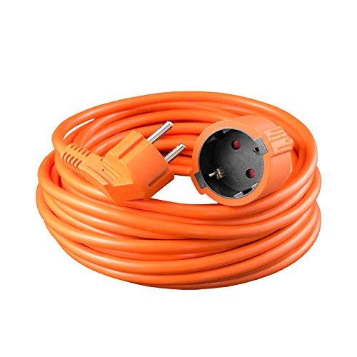 benon Verlängerungskabel Schuko, 30m Orange - Verlängerung mit Kindersicherung, max. 3680W - H05VV-F 3G 1,5² - Anwendung bei -5° bis 70°C