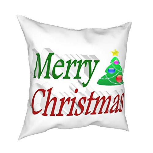 Funda de cojín decorativa para sofá, diseño de árbol de Navidad en 3D, color rojo y verde