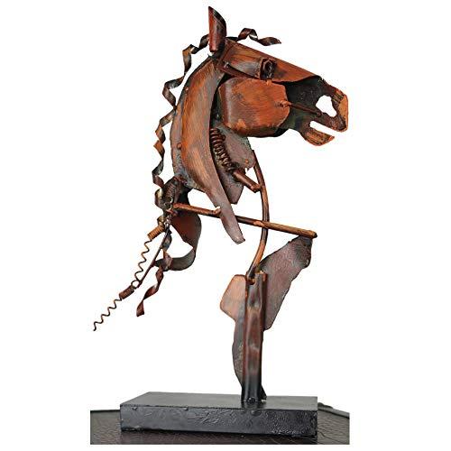 Schreiblichkeit Metall Skulptur - Pferd Artax - 36x21x9cm - Statue als Deko - Figur Geschenk für Pferde Liebhaber, Reiter oder Reiterin oder die eigene Wohnung