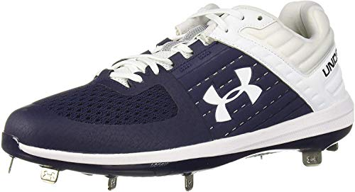 Under Armour Men's Yard Low ST Baseball Shoe, Navy (402)/White, 10.5