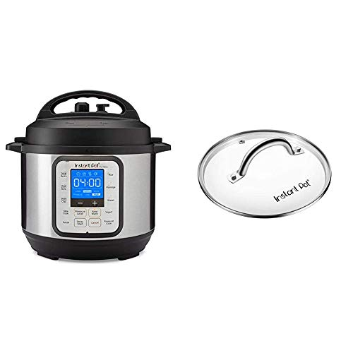 Instant Pot Duo Nova 7-in-1 Electric Pressure Cooker, Slow Cooker, Rice Cooker, Steamer, 3 Quart, Easy-Seal Lid, 12 One-Touch Programs & ant Pot Tempered Glass Lid, Clear 7.6 Inch, Mini 3 Quart