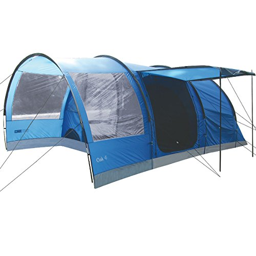 Highlander Outdoor Oak 4 Family Tunnel Tent, Blue