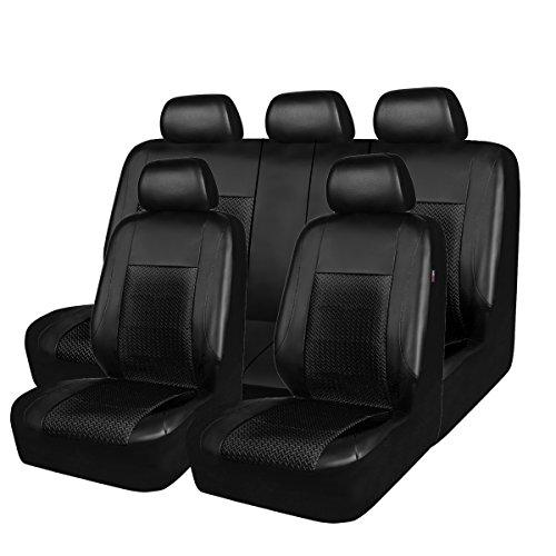 Nueva llegada–caballo kingdm Universal asiento de coche asiento de fundas protectores de piel sintética y malla airbag Compatible
