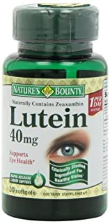 Nature's Bounty Lutein 40 Mg, 30-Count (Pack of 4) , Bounty -dj (B00W3IMVIG) | Amazon price tracker / tracking, Amazon price history charts, Amazon price watches, Amazon price drop alerts