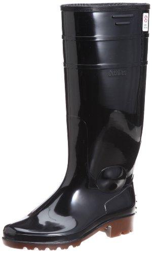 [アキレス] レインブーツ 長靴 作業靴 日本製 耐油 長さ調節可能 2E ユニセックス TWB 2100 ブラック/ブラウン 28.0 cm