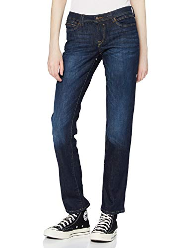 edc by ESPRIT Damen Low Cut Straight Jeans, 901/BLUE Dark WASH 2, 27/32