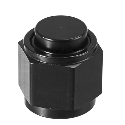 Vincos 10AN an 10 Male Flare Cap Plug Nut Aluminum Block Off Fitting Adapter Anodized Black