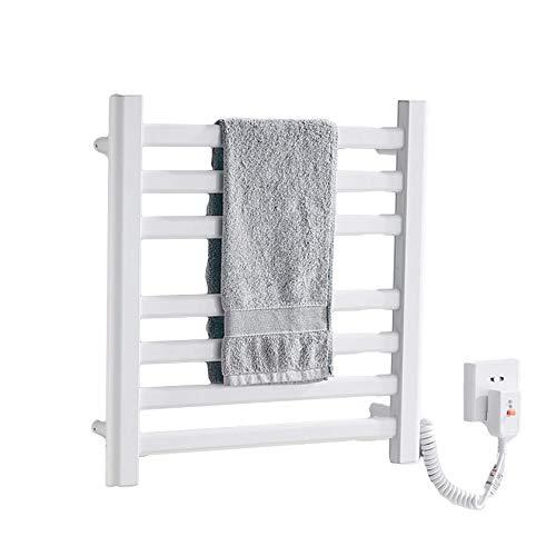 SBDLXY Baño Blanco/Negro radiador de Toallas de calefacción eléctrica Plano montado en la Pared 505 * 505 * 60 mm, clasificación Impermeable IP24, Material de Aluminio, Blanco