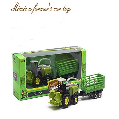 Escala 1:55 modelo de vehículo agrícola modelo de coche para niños tractor agrícola rompecabezas modelo de coche rompecabezas coche de juguete
