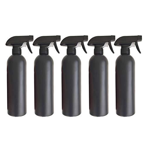 DOITOOL 5 Pezzi 500ml Spruzzino Nebulizzatore per Piante in plastica Bottiglia di spruzzo per Piante spruzzino Acqua Piccolo annaffiatoi Bottiglie Spray in Plastica per Piante da Giardino (Nero)