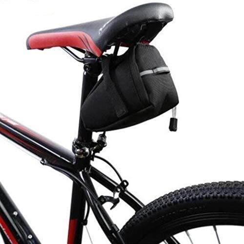 Xingyu – Práctico sillín impermeable para bicicleta, bolsa reflectante, bolsa para sillín de bicicleta, accesorios para exteriores (color: negro, tamaño: 15,5 x 6,5 x 10,5 cm)