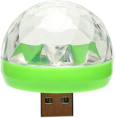 Lámpara LED de atmósfera para coche, cambia de color, bola RGB con USB para discoteca, DJ, escenario de luz, fiesta de fiesta (para Android)