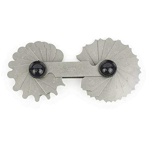 'Equipment and Tools for You' 1/32' to 1/4' 26 Leaves Radius Gauge - AGR1109 asd-1-7-314