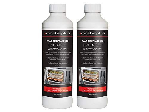 moebelplus Dampfgarer Entkalker - 2er Set Ultrankonzentrat 2x 500 ml