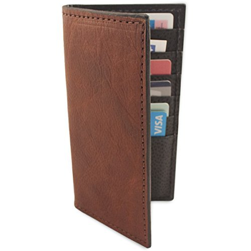 Brown Genuine Cowhide Rodeo Checkbook Leather Wallet