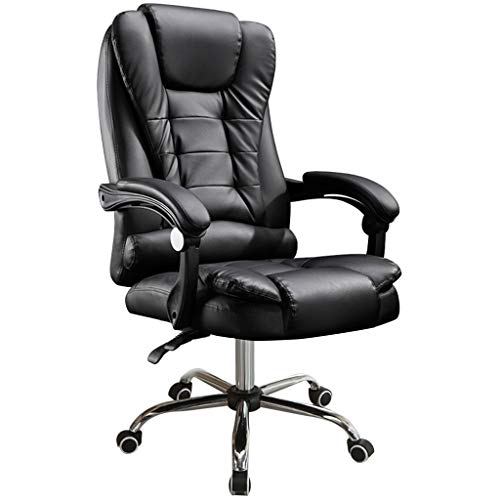 Massage Chair - Reclining Chair Pu Leather Office Chair - High Back Executive Adjustable Rolling Swivel Chair (Black) chair gaming