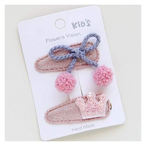 XIALITR Clip de Garra 2 unids nuevos niños encantadores niñas Conejo Corona Accesorios para el Cabello (Color : 70)