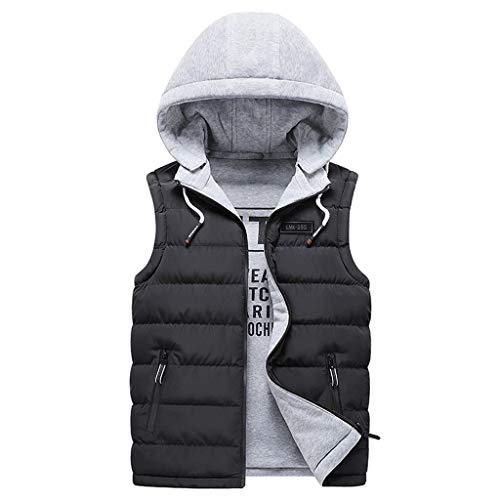 POachers Gilet Doudoune Veste Homme Hiver Manteau Large Chaud Epaisse sans Manche Blousons À Capuche Outwear Jacket Grande Taille M-3XL