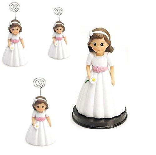 Portafoto niña Comunión Pack de 12 unidades y 1 Figura tarta a juego