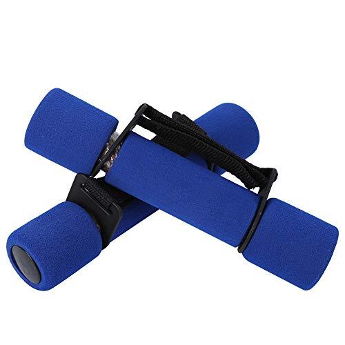 Keenso Damen Fitness Hantel, 1 Paar Damen Hantel Weicher Schaumstoff Gusseisen Gewichtheben-Training Hantel (Single 1KG X2)