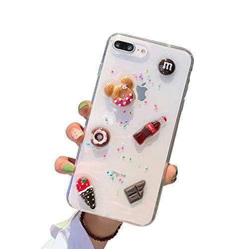 ♥ APLICABLE: 3D caja del helado compatible con 6s iphone 6 / iphone / 6plus iPhone / 6splus iPhone / iphone 7 / iphone 8 / iphone xs 7plus / iphone 8plus / iphone x / iPhone / iphone xr / iphone xs max .. ♥ diseño creativo: Helado de color 3D Kit de ...