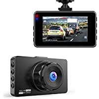Hexdeer Dash Camera Recorder with 3 Inch LCD