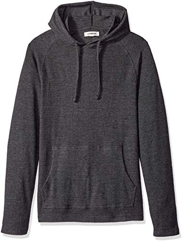 Amazon Brand - Goodthreads Men's Long-Sleeve Slub Thermal Pullover Hoodie, Heather Charcoal, XX-Large