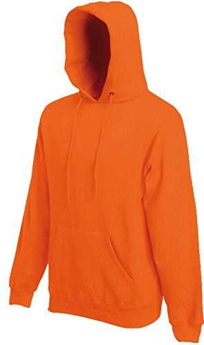 Fruit of the Loom Hooded Sweat Orange - L