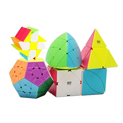 HCH Puzzles 3D Extranjero Cubos del Rompecabezas 3D Velocidad Cubos 2x2x2 Fenghuolun/Pyraminx / 3x3x3 3x3x3 Pyramorphix/Megaminx/Hoja de Arce Cubo/Tilt Cubo / 6 Piece Cubos mágicos Juguetes
