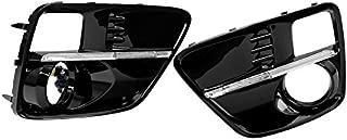 Fog Light Cover JDM S4 Styled LED DRL Bezel Filler Trim For 15-17 Subaru WRX STI