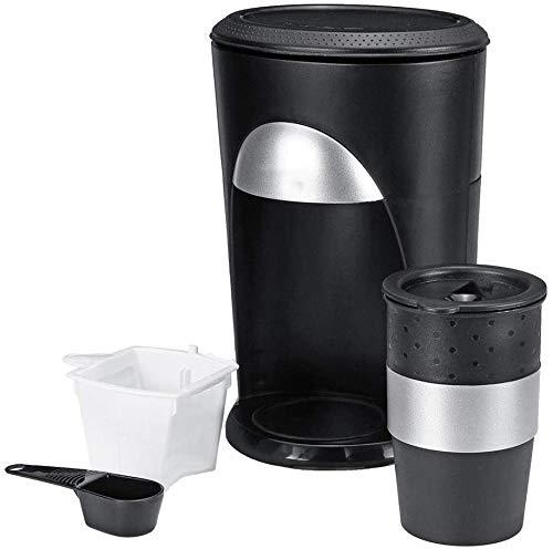 L.TSA Kaffeemaschine Espressomaschine Tragbare Mini-Automatik-Kaffeemaschine mit Einer Tasse und automatischer Abschaltung der Karaffe