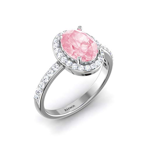 Julebox Pink Ocean Ring - Beautiful Glistening Gemstone Ring - Perfect Jewellery Accessory 925 Sterling Silver Womens Ring