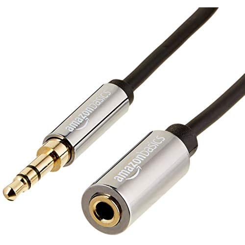 AmazonBasics - Cavo prolunga audio stereo maschio/femmina, 3,5 mm, 3,66 metri