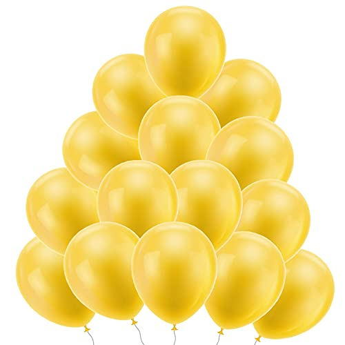 Globo Látex Amarillo 100 Piezas Globos decorativo Amarillo Globo Amarillo 10 Pulgadas Globo Látex para Fiestas Infantiles, Bodas, Fiestas de Bebés,Navidad