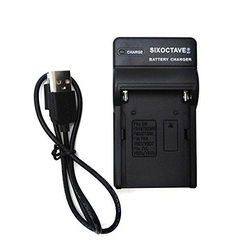 [str] SONY (ソニー)NP-FM50/F550/F570/NP-F750/NP-F770/NP-F960/NP-F970/NP-F330 等充電池純正、互換対応充電器USBチャージャーBC-VM10 BC-TRM/AC-VQ900AM / BC-VM10 / AC-VQ850 / AC-V615 汎用 充電器 NP-FM500H 等 対応
