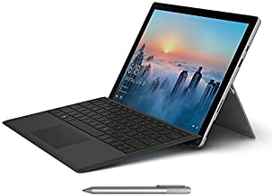 Microsoft Surface Pro 4 256GB i5 Windows 10 Anniversary with Black Type Cover Bundle (8GB RAM, 2.4GHz i5, 12.3 Inch Touchscreen ) (Renewed)