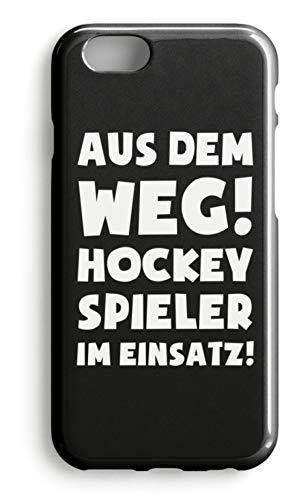 shirt-o-magic Handyhülle Hockey: Hockeyspieler im Einsatz! - Case -iPhone 6s-Schwarz
